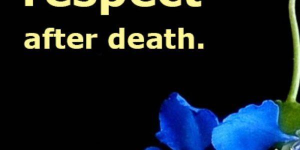 Respecting Death